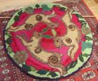 Tinners Hares hooked rug/hanging