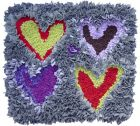 four hearts -  - cushion